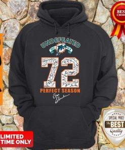 Official Miami Dolphins Undefeated 1972 72 Perfect Season Signatures Hoodie