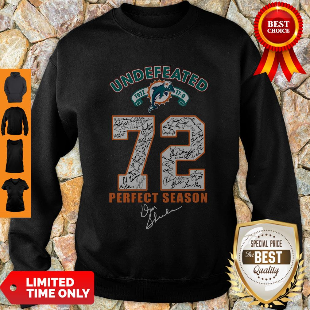 Official Miami Dolphins Undefeated 1972 72 Perfect Season Signatures Sweatshirt