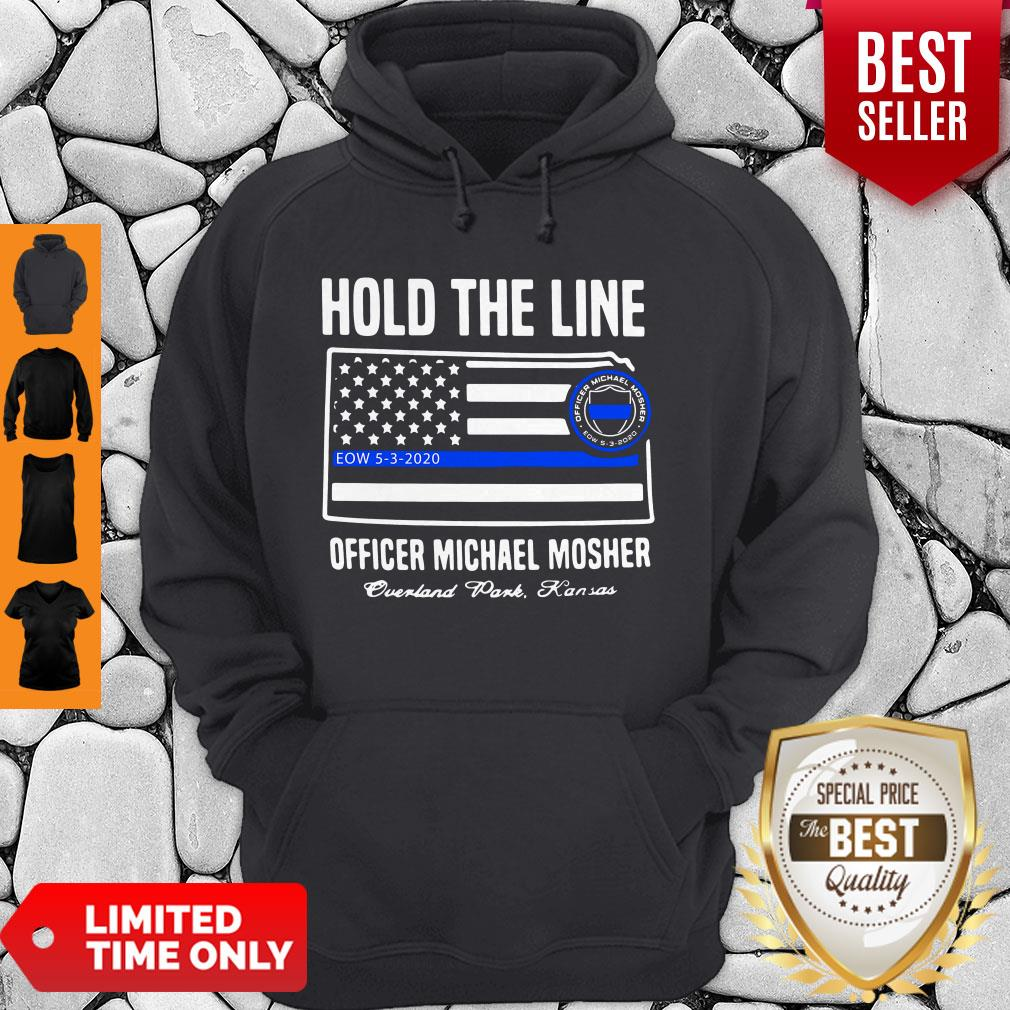Premium Hold The Line Officer Michael Mosher Hoodie
