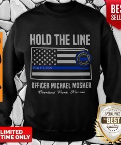 Premium Hold The Line Officer Michael Mosher Sweatshirt