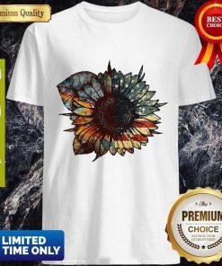 Good Great Vintage Sunflower American Flag Shirt