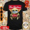 Nice Baby Yoda Face Mask Hug Tim Hortons Shirt