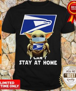 Official Baby Yoda Face Mask Hug Us Postal Service I Can't Stay At Home Shirt