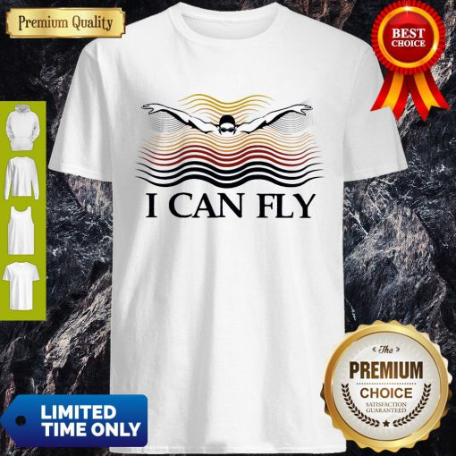 Premium Swimming I Can Fly Shirt