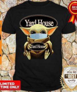 Pretty Baby Yoda Face Mask Hug Yard House Shirt