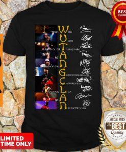 Top WuTang Clan Raekwon U God Ol'dirty Bastard Rza Method Man Signatures Shirt