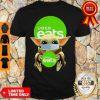 Funny Baby Yoda Face Mask Hug Uber Eats Shirt