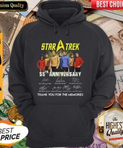 Star Trek 55th Anniversary Signature Thank You For The Memories Hoodie