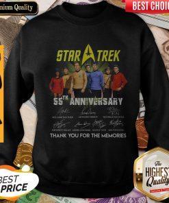 Star Trek 55th Anniversary Signature Thank You For The Memories Sweatshirt