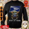 Official Baby Yoda Face Mask Hug Us Postal Service I Can't Stay At Home Sweatshirt
