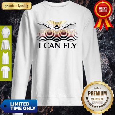 Premium Swimming I Can Fly Sweatshirt