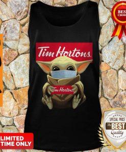 Nice Baby Yoda Face Mask Hug Tim Hortons Tank Top