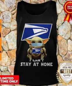 Official Baby Yoda Face Mask Hug Us Postal Service I Can't Stay At Home Tank Top