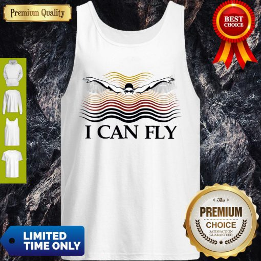 Premium Swimming I Can Fly Tank Top