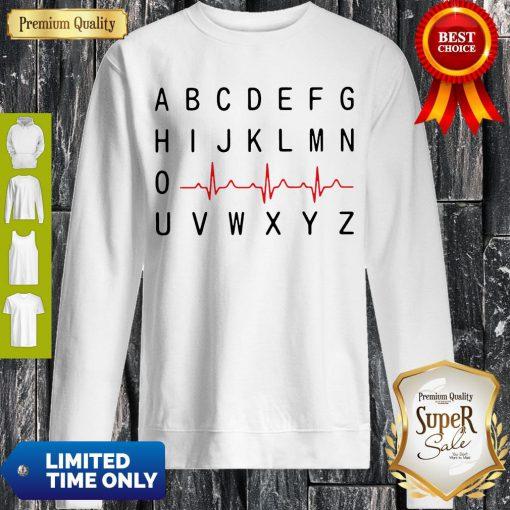Top A B C D E F G Nurse Heartbeat Sweatshirt