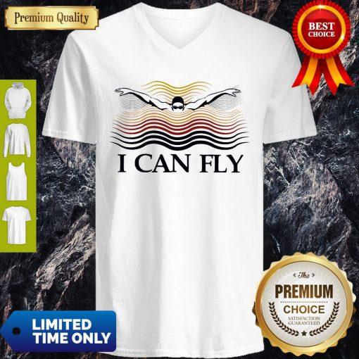 Premium Swimming I Can Fly V-neck