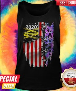 2020 Quarantine 40th Birthday American Flag Independence Day Tank Top