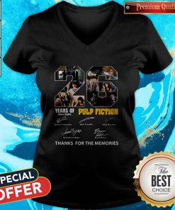 22 Years Of 1994 2020 Pulp Fiction Thank You For The Memories Signatures V-neck