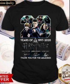23 Year Of Harry Potter 1997 2020 Thank You For The Memories Signatures Shirt