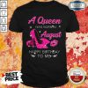 A Queen Was Born In August Happy Birthday To Me Diamond Shirt