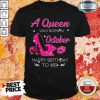 A Queen Was Born In October Happy Birthday To Me Diamond Shirt