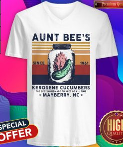 Aunt Bee's Since 1961 Kerosene Cucumbers The Best Homemade Pickles Of All Time Mayberry Nc Vintage V-neck