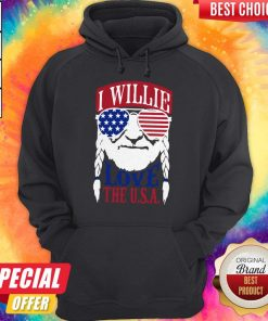 Awesome I Willie Love The USA Hoodie