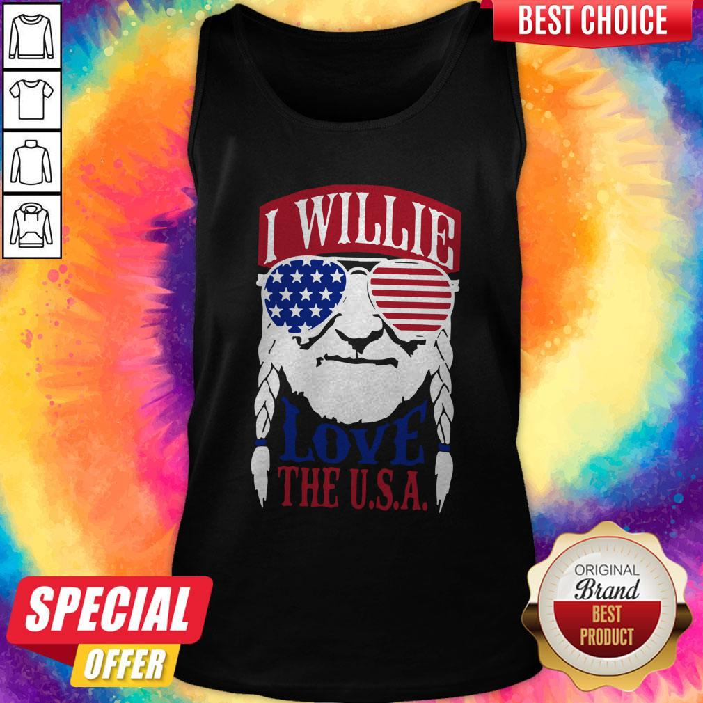 Awesome I Willie Love The USA Tank Top