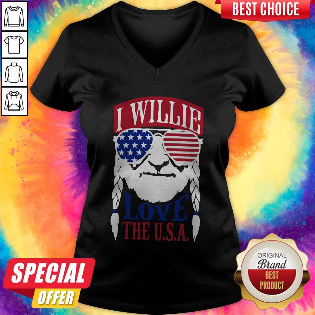 Awesome I Willie Love The USA V-neck