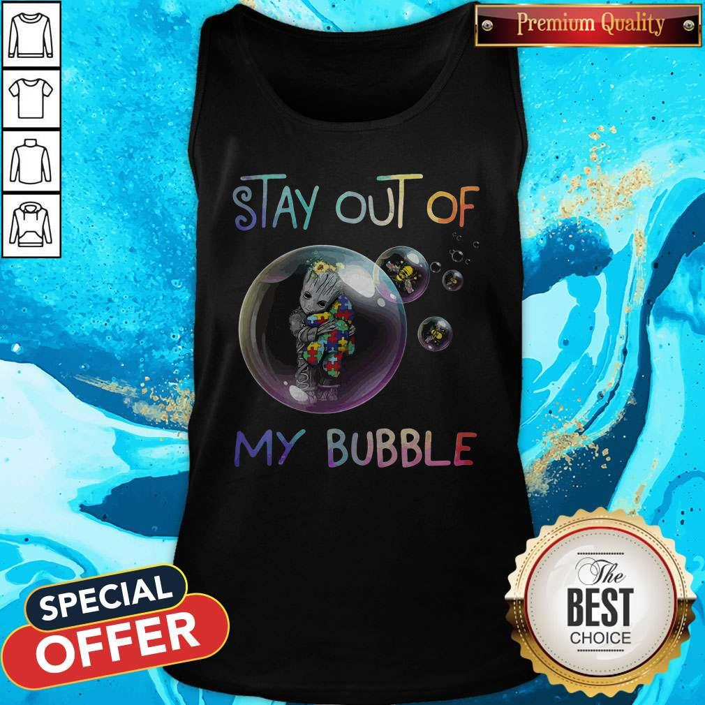 Baby Groot Hug Autism Stay Out Of My Bubble Tank Top