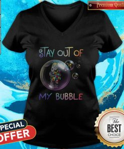 Baby Groot Hug Autism Stay Out Of My Bubble V-neck