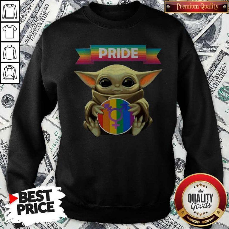Baby Yoda Hug Sex Logo Pride Sweatshirt