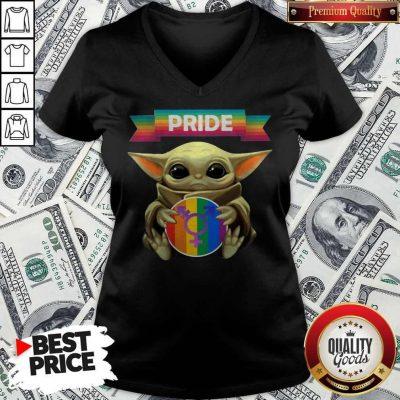Baby Yoda Hug Sex Logo Pride V-neck