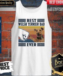 Best Welsh Terrier Dad Ever Vintage Tank Top