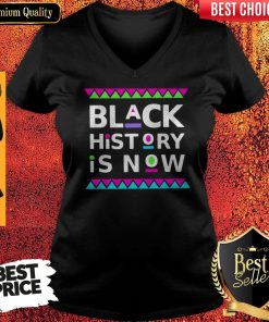 Black History Is Now Colors V-neck