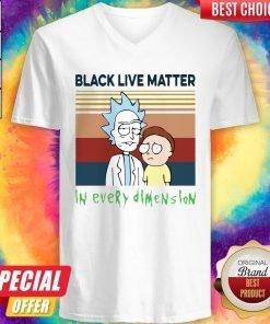 Black Live Matter In Every Dimension Vintage V-neck