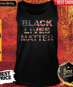 Black Lives Matters American Flag Independence Day Tank Top
