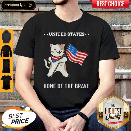 Cat United States Home Of The Brave Shirt