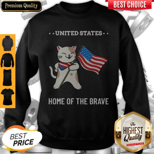 Cat United States Home Of The Brave Sweatshirt