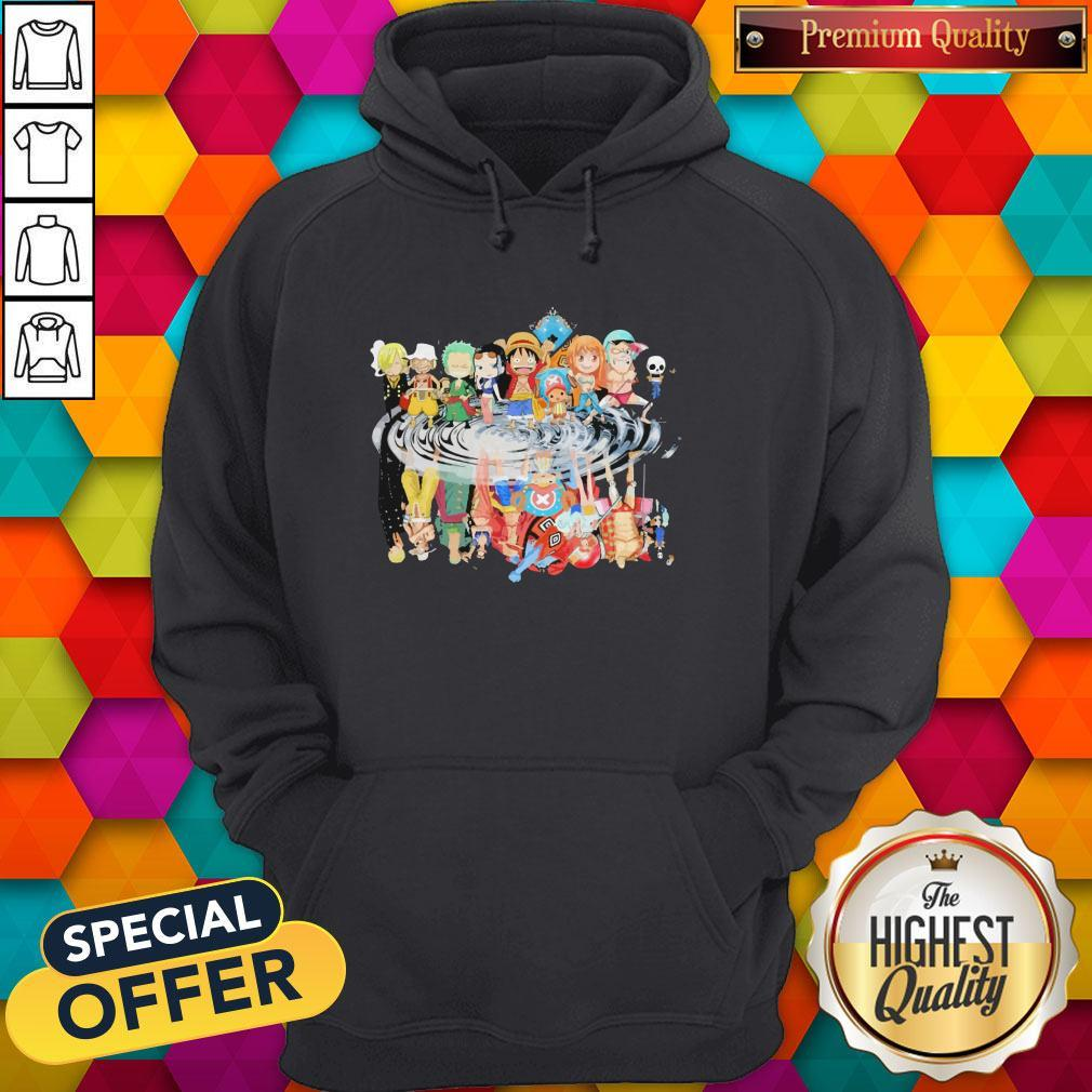 Chibi Characters One Piece Reflection Water Mirror Hoodie