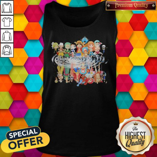 Chibi Characters One Piece Reflection Water Mirror Tank Top