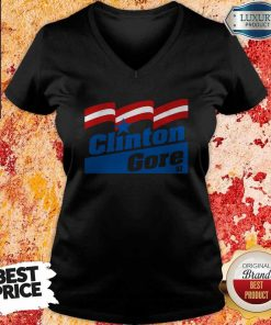 Clinton Gore 92 Elections Political Maglietta V-neck