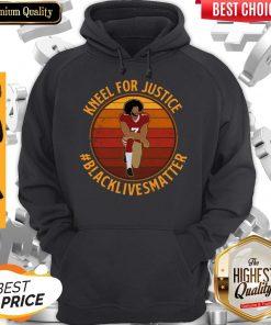 Colin Kneel For Justice Black Lives Matter Vintage Hoodie