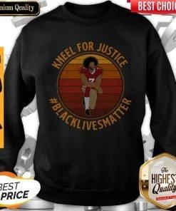 Colin Kneel For Justice Black Lives Matter Vintage Sweatshirt