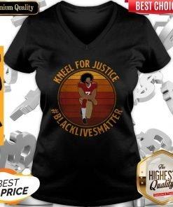 Colin Kneel For Justice Black Lives Matter Vintage V-neck