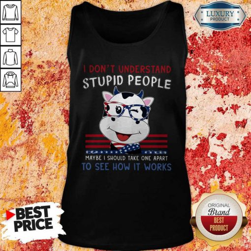 Dragon I Don't Understand Stupid People Maybe I Should Take One Apart To See How It Works Tank Top
