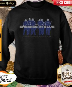 Enemies In Blue Relief In Collaboration With Knocked Loose Sweatshirt