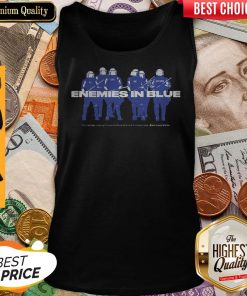 Enemies In Blue Relief In Collaboration With Knocked Loose Tank Top