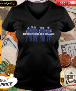 Enemies In Blue Relief In Collaboration With Knocked Loose V-neck