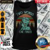 Et With Middle Finger Two Words One Finger Vintage Tank Top